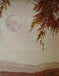 Moon Paintings in Watercolor